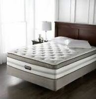 """2 available...Simmons Beautyrest """"Chopin"""" double mattress and bo"""