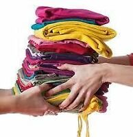 Vous avez des vêtements à donner? You have clothes to give away?