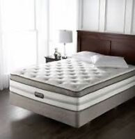 1 LEFT...Simmons Beautyrest, Chopin double mattress and boxsprin