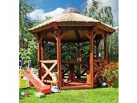 New wooden gazebo transport + instal + handymen service around London from £20