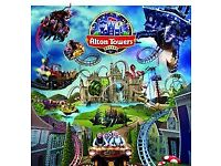 Alton towers tickets x 2 for 3.9.18