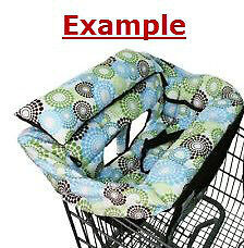 Denim Buggy Bagg Shopping Cart Seat Cover with Animal Print