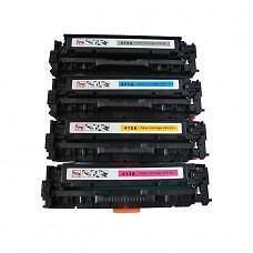 4 Pack BK/C/Y/M Combo Hp 305A CE410A&X/CE411A/CE412A/CE413A Toner Cartridge Remanufactured
