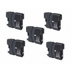 5 Pack Black Brother LC61 Ink Cartridge New Compatible