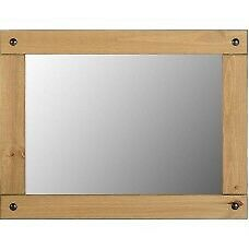 CORONA MEXICAN PINE WALL MIRROR