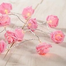 20 Pink Rose with Warm White LED Lights - Brand New - Kilmarnock Area