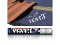 Cheap!!! Vent 3 roofing felt 135gsm zone 1-5 big rolls 75sq m 150pounds for 4