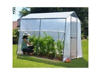 6' x 8' Greenhouse - Aluminium / Reinforced Polythene greenhouse . BRAND NEW