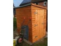 Timber Garden Shed - 4' wide x 6' deep