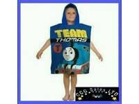 Official Thomas The Tank Engine Hooded Poncho Towel