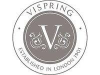 Vi-spring kingsize sprung divan base with drawers