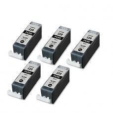 5 Pack Black Canon PGI220 Ink Cartridge New Compatible