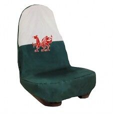 Welsh Flag HDD Winged Universal Waterproof Front Seat Cover
