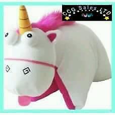 Fluffy Unicorn (Minion's) cuddley Teady