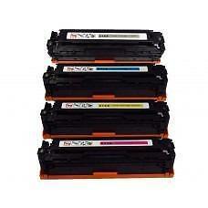 4 Pack BK/C/Y/M Combo Hp CF210X/CF211A/CF212A/CF213A / Canon 131 BK/C/Y/M Combo Set Toner Cartridge New Compatible