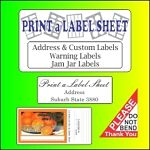Print a Label Sheet