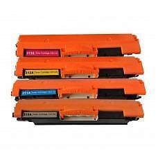 4 Pack BK/C/Y/M Combo Canon CRG-729 Hp 126A CE310A(K)/CE311A(C)/CE312A(Y)/CE313A(M)]Toner Cartridge New Compatible
