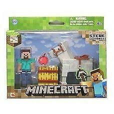 Minecraft Steve with White Horse Action Figure  Saddle up with t