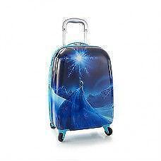New Disney Frozen Elsa Kids Spinner Luggage - Wheeled Hard Bag O