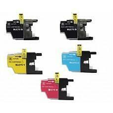 5 Pack 2BK/1C/1Y/1M Combo Brother LC75XL Ink Cartridge New Compatible