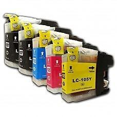 4 Pack 1BK/1C/1Y/1M Combo Brother LC105XL/LC107XL Ink Cartridge New Compatible