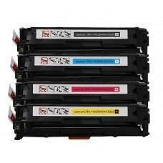4 Pack BK/C/Y/M Combo Canon CRG116/HP CB540A/CB541A/CB542A/CB543A/Hp CE320A/CE321A/CE322A/CE323A Toner Cartridge New Com