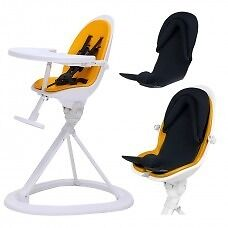Ickle Bubba Orb+ Highchair (white/yellow) New in Box