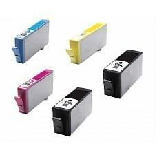 5 Pack BK/C/Y/M Combo Hp 920XL(CD972AN) Ink Cartridge New Compatible