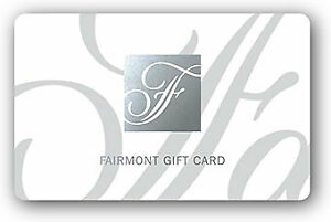 FAIRMONT GIFTCARDS $500.00 VALUE