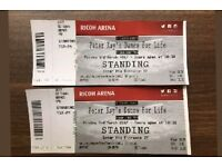 Peter Kay Dance for Life x2 tickets for Coventry 3rd march