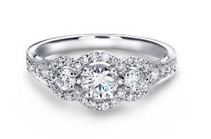 Beautiful Glacier Fire Canadian Diamond Engagement Ring