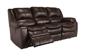 Plush Recliner Sofa