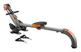 Rowing machine and body sculpture