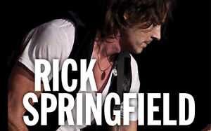 A Pair Of Hard Copy Rick Springfield Tickets