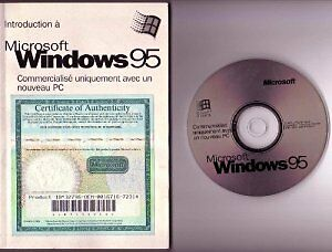 MICROSOFT WINDOWS 95 OPERATING SYSTEM CD WITH USB SUPPORT
