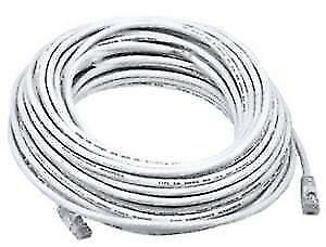 50 ft. White High Quality Cat 6 550MHz UTP RJ45 Ethernet Bare Copper Network Cable