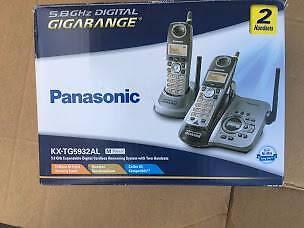 PANASONIC KX-TG5932AL 5.8Ghz Digital 2Cordless & Answering System