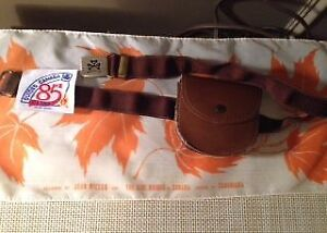 Vintage Girl Guide Pouch, Scarf, and Badge