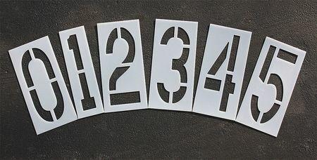 Rae Stl-108-8240 Pavement Stencil,24 In,Number Kit,1/8
