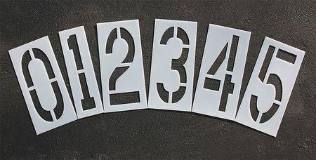 Rae Stl-116-8240 Pavement Stencil,24 In,Number Kit,1/16