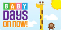 BABY DAYS sale - July 31-Aug 2nd - Baby/Girls/Boys/Toys/Shoes