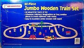 Jumbo Wooden Train Set