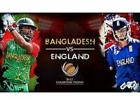 ENGLAND V BANGLADESH ICC CHAMPIONS TROPHY