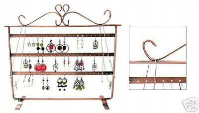 3 Layer Earring Display With Antique Copper Finish - Jewelry Display Organizer