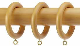 Integra Wood Works 35mm Light OAK Curtain Pole 1.8M (Brand New In Box)