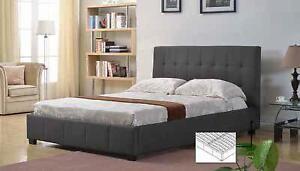 Platform Bed (IF-137) (Iseries Mattresses Serta Perfect Sleepers