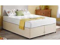 New Dreams Divan Base Beige - incl Double Mattress - Bargain Bed!! RRP £279