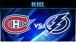 2 WHITE TICKETS MONTREAL CANADIENS VS TAMPA BAY LIGHTNING OCT 27 West Island Greater Montréal image 1