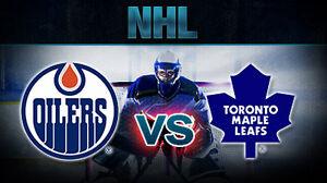 Oilers vs Leafs Edmonton Edmonton Area image 1