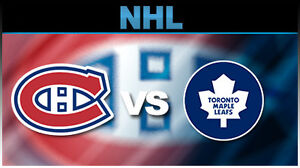 4 billet canadiens vs toronto, oct 29 sect 108, rouge